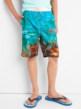 Gap Shark reef swim trunks