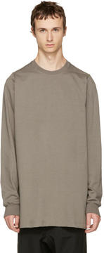 Rick Owens Grey Crewneck Sweater