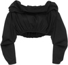 Ellery Third Degree Off-The-Shoulder Cropped Blouse