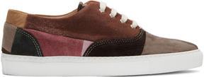 Comme des Garcons Multicolor Suede Patchwork Sneakers