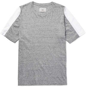 Folk Panelled Mélange Cotton-Jersey T-Shirt