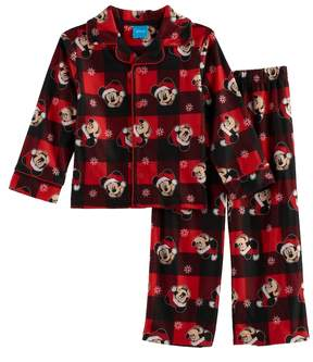 Disney Disney's Mickey Mouse Toddler Boy 2-pc.Checked Pajama Set