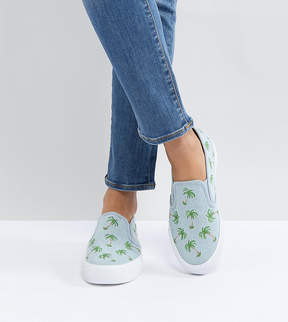 Asos DAGO Palm Tree Embroidered Sneakers