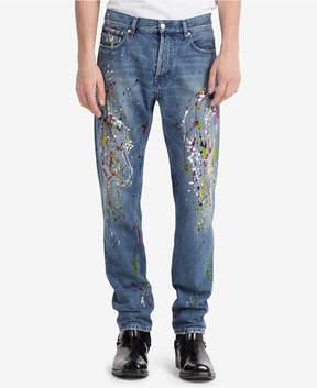 Calvin Klein Jeans Men's Iconic Slim-Fit Paint-Splatter Jeans