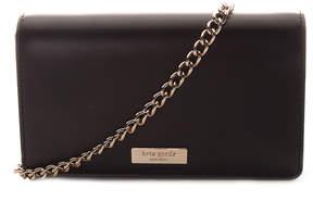 Kate Spade Black Isabelli Alexander Avenue Smooth Leather Crossbody Wallet