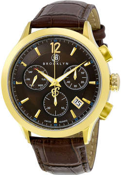 Dakota Brooklyn Watch Co. Brooklyn Chronograph Brown Dial Men's Watch