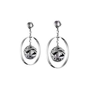 Azza Fahmy Sterling Silver Orb Earrings
