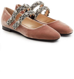 N°21 N21 Velvet Shoes with Embellished Straps