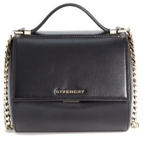 Givenchy 'Mini Pandora Box - Palma' Leather Shoulder Bag - Black