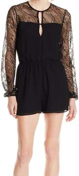 BCBGeneration Women's Metallic Illusion Keyhole Romper