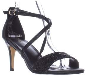 Thalia Sodi Ts35 Dulcep Cross Strap Sparkle Evening Sandals, Black.