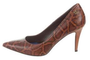 Just Cavalli Leather Leopard Pumps