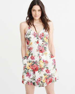 Abercrombie & Fitch Button Swing Dress