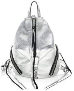 Rebecca Minkoff Julian Metallic Mini Backpack - SILVER - STYLE