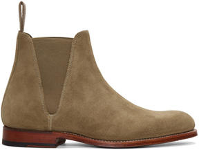 Grenson Taupe Suede Nolan Boots