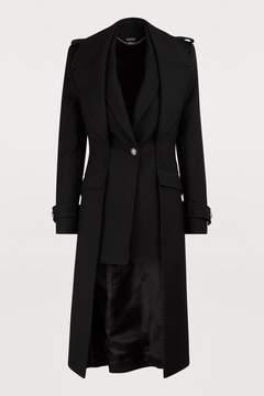 Black Wool drape coat