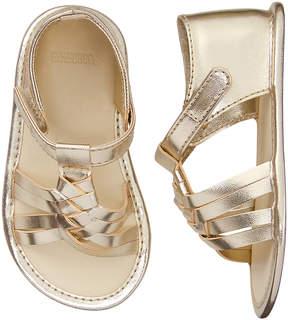 Gymboree Gold & Super Blue Braided Sandal - Girls