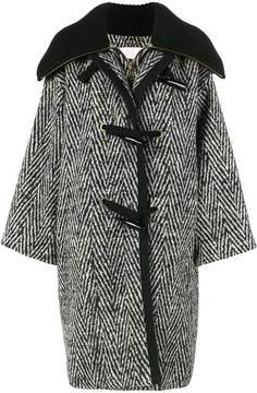 Chloé stripe oversized cocoon coat