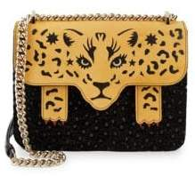Charlotte Olympia Fierce Belafonte Leopard Crossbody Bag