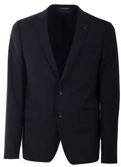Scotch & Soda Men's Blue Polyester Blazer.