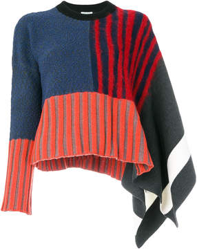Kenzo stripe knit sweater with flared sleeve