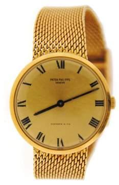 Patek Philippe 3562 Calatrava Tiffany & Co Dial 18K Yellow Gold Watch