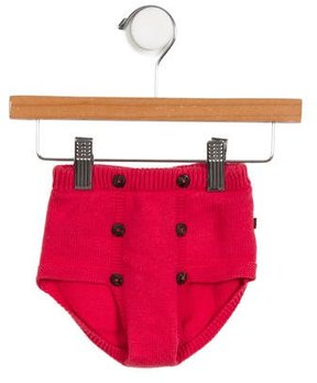 Oeuf Girls' Button-Accented Knit Bloomers