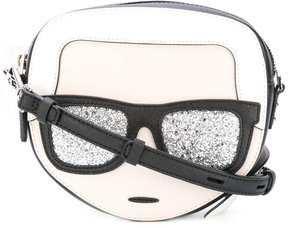Karl Lagerfeld round face crossbody bag