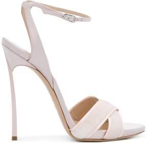 Casadei Blade cross strap sandals