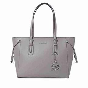 Michael Kors Voyager Medium Multifunction Tote - Pearl Grey - GRAYS - STYLE