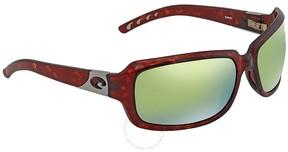 Costa del Mar Isabela Green Mirror 580P Rectangular Sunglasses IB 10 OGMP