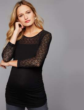 Isabella Oliver Pea Collection Evy Lace Sleeve Maternity Top