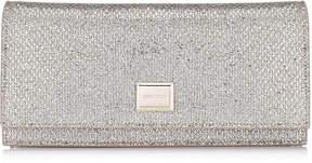Jimmy Choo LILIA Champagne Glitter Fabric Mini Bag