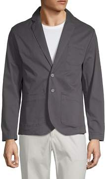 Saks Fifth Avenue BLACK Men's Twill Notch Lapel Blazer