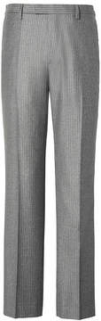 Banana Republic Slim Grey Pinstripe Italian Wool Flannel Suit Trouser