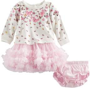 Nannette Baby Girl Butterfly Dress & Bloomers Set