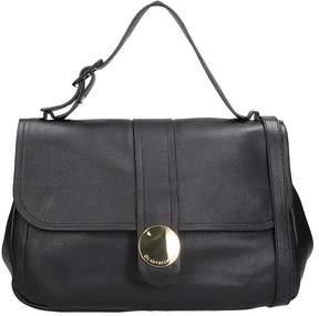 L'Autre Chose Black Leather Top Handle Bag