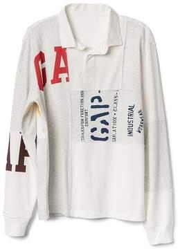 Gap Logo Remix Long Sleeve Rugby Shirt