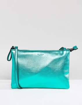 Pull&Bear Cross Body Metallic Bag With Zip