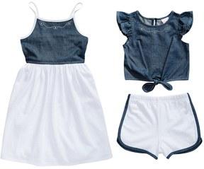 Youngland Toddler Girl Denim Sleeveless Dress