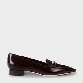Paul Smith Women's Bordeaux Leather And Calf Hair 'Bree' Loafers