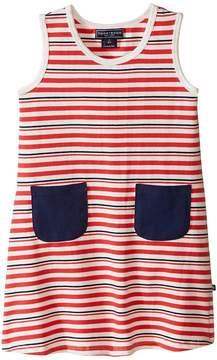 Toobydoo Tank Dress w/ Navy Pockets (Infant/Toddler)