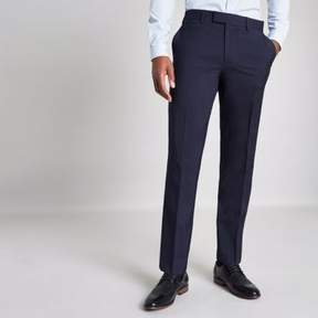 River Island Mens Navy tailored skinny fit pants