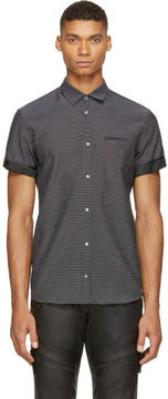 CNC Costume National Black Woven Shirt