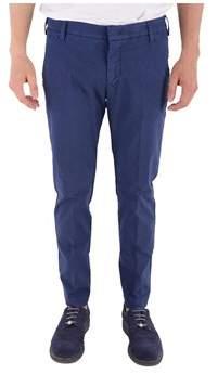 Entre Amis Men's P18818814490408 Blue Cotton Pants.