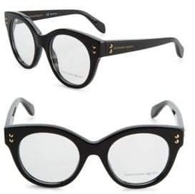 Alexander McQueen 49MM Cat Eye Eyeglasses