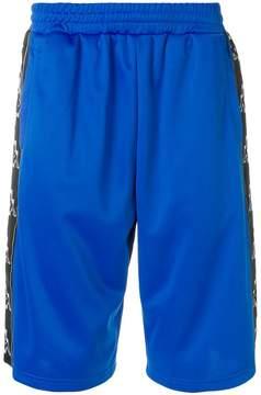 Marcelo Burlon County of Milan Kappa tape shorts