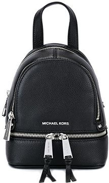 MICHAEL Michael Kors Reheat Extra Small Black Leather Backpack - BLACK - STYLE