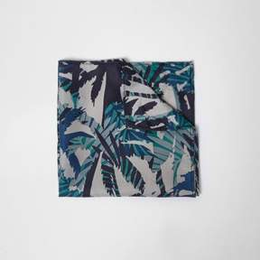 River Island Mens Green forest print pocket square