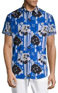Robert Graham Cotton Floral Shirt